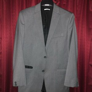 Calvin Klein Slim-Fit Gray Suit Jacket and Pants
